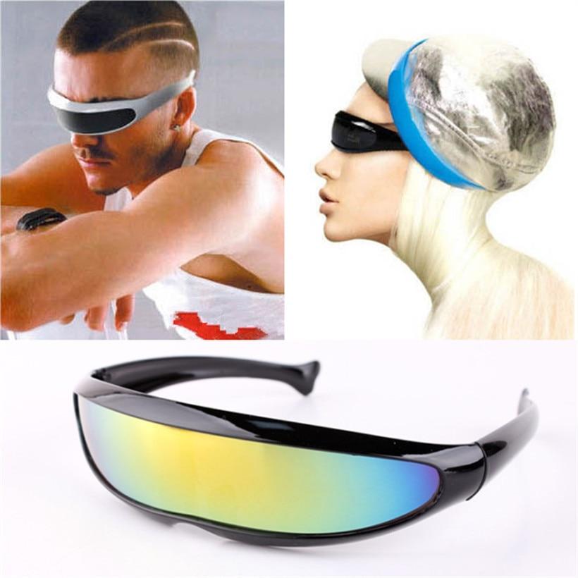 X-Men Personality Sunglasses Laser Glasses Outdoor Sports Sunglass Robots Silver Lens Sun Glasses Men's Driving Goggles Glasses