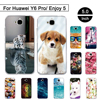 "TPU Case For Huawei Y6 Pro / Honor Play 5X / Enjoy 5 5.0"" Soft Silicon Cover For Huawei Y6 Pro Enjoy 5 Phone Cases Back Shells"