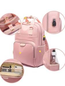 Laptop Backpack Cloth Oxford Pink Female Waterproof Men 13 14 15-15.4 Black Girl Women