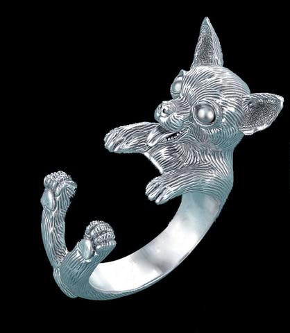 Купить оптовая продажа очаровательное кольцо в стиле ретро с собакой