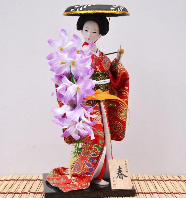 US $17 85 15% OFF|Beautiful japanese wedding decoration geisha statue  Vintage craft novelty gifts for friends Wedding deocration diy-in Statues &
