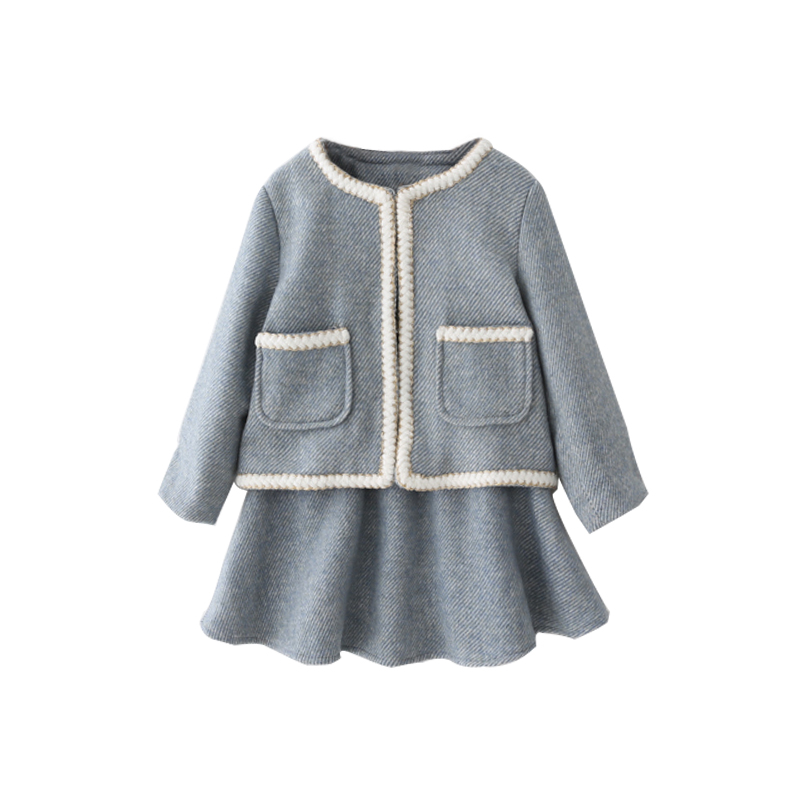 Tops 2018 Autumn Winter New Baby Girls Cardigan Two-piece Sweaters Set Children Cotton Knitwear Sweater 2-10T baby children s clothing boys and girls set sweater autumn winter warm new fashion gold velvet leisure sports two piece a8888