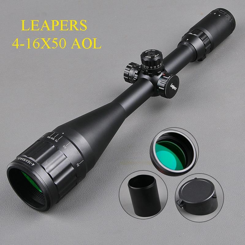 LEAPERS 4-16X50 Hunting Scopes RGB Optic Riflescopes Airsoft Hunting Luneta Para Rifle Caza Sniper Scopes оптика leapers