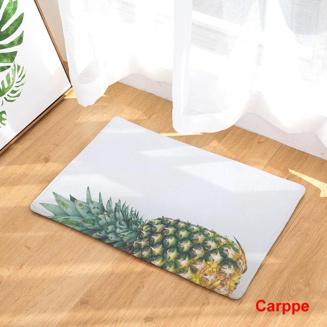 non slip kitchen rugs new home decor mats pineapple leaves carpets nonslip kitchen rugs for living room non slip