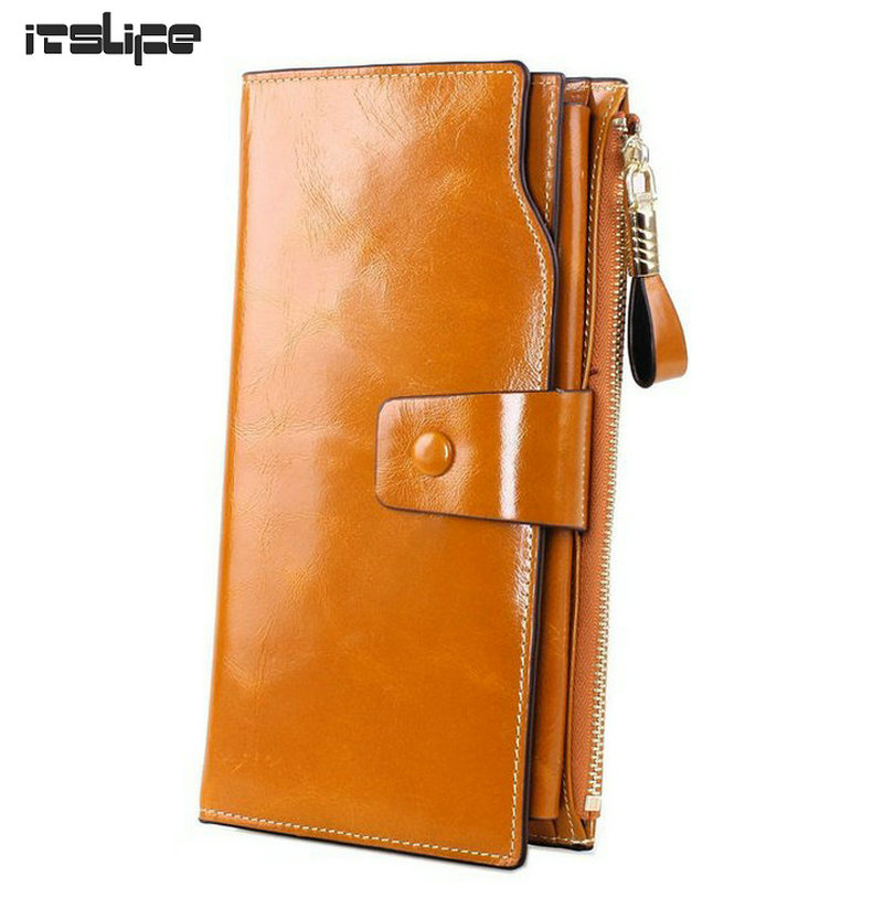 NEW DESIGN Women Large genuine leather wallet Female long style cowhide purse with Hasp Zip phone bag multi-function card case guapabien casual bear pattern hasp design large storage wallet for women