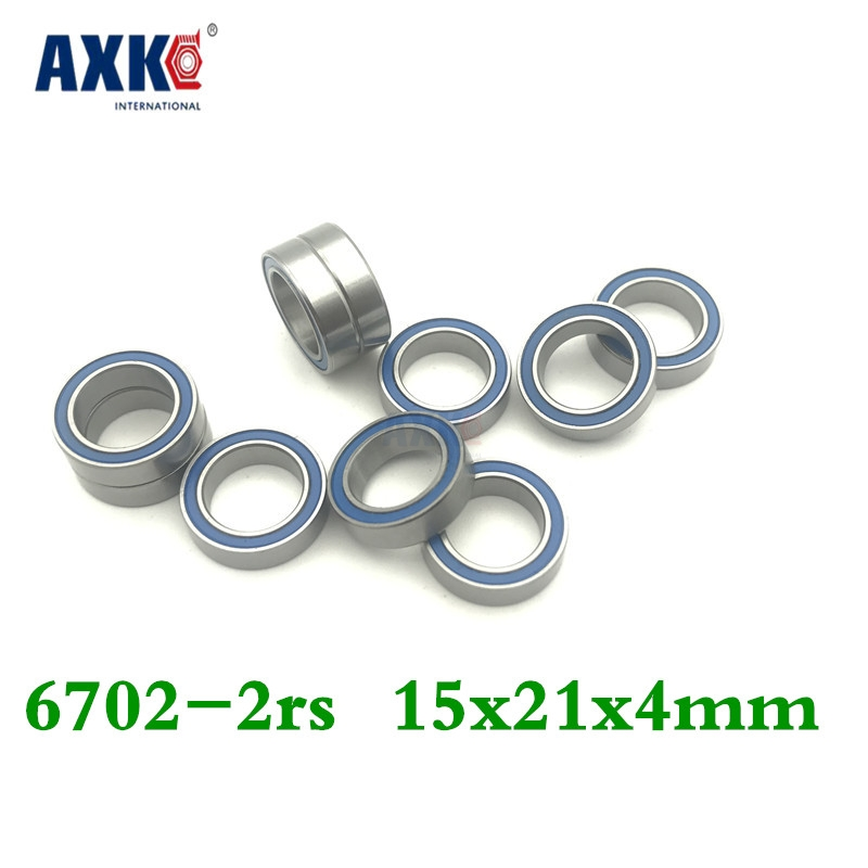 2019 Real Rodamientos <font><b>6702rs</b></font> Bearing (10pcs) 15*21*4 Mm Thin Section 6702-2rs Ball Bearings 61702 Rs 6702 2rs With Blue Sealed image