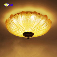 FUMAT European Style Modern Remote Control Round Flower Pallet K9 Crystal Stainess Steel LED Ceiling Lamp For Villa Bedroom ETC