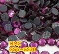 Ss6, ss10, ss16, ss20, ss30 Fuchsia alta calidad DMC hierro en cristal Rhinestones / Rhinestones calientes cristalinos del arreglo