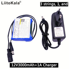 Carregador de Bateria Liitokala 12 V 3000 Mah 3s1p Bateria de Lítio 18650 Placa Proteção Recarregável 1A