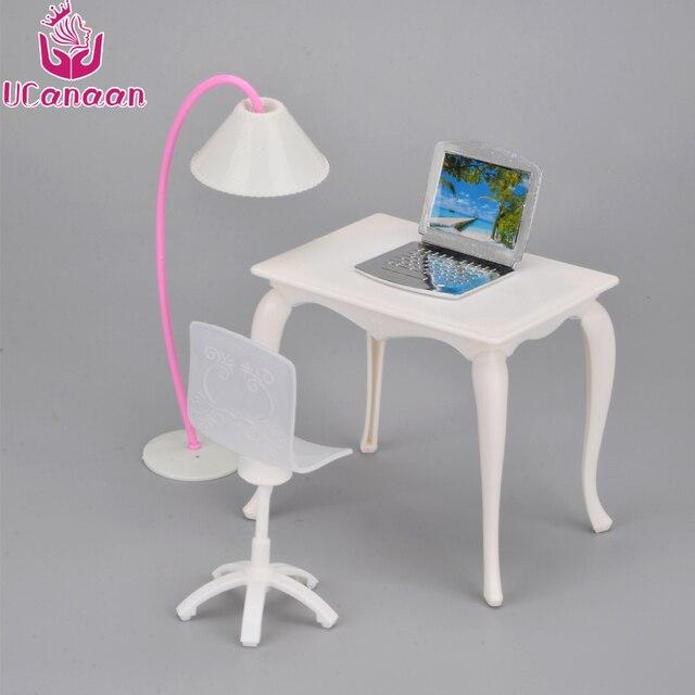 Ucanaan niños Juguetes muñeca Muebles + lámpara + portátil ...