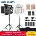 Spash TL-600S 2 комплекта студийный свет светодиодный свет видео для Youtube съемки 600 бусин 25 Вт CRI90 лампа для фотосъемки с батареей штатива 200 см