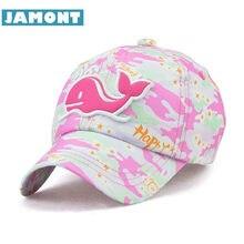 JAMONT  Bonito Crianças Verão Hat Snapback Bonés de Beisebol Camuflagem  Chapéu de Sol Padrão 8a47f87eda2