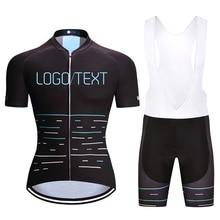 ФОТО custom pro team cycling jersey and bib shorts kit set custom logo/text sales black/white