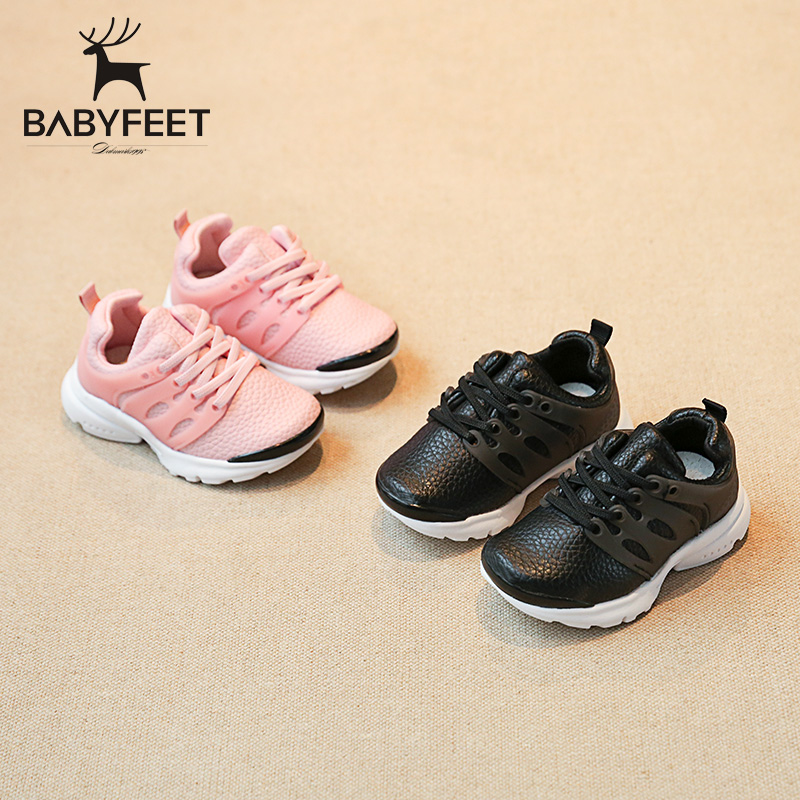 2017 Babyfeet 1-3 years old Child Children shoes girls toddler shoes baby boys kids Sneakers casual PU Leather flat sports shoes kids shoes girls boys pu leather lace up high children sneakers girl baby shoes sport autumn winter children shoes