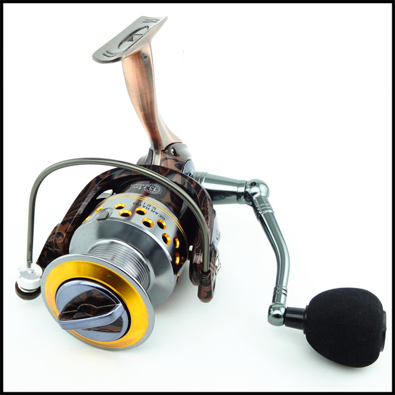 14BB Metal Spinning Fishing Reel 1000-7000 High Speed ​​Ratio - Fiske
