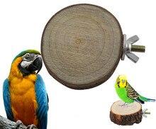 Птицу окунь белка платформы попугай птица висит деревянный круглый стенд игрушка