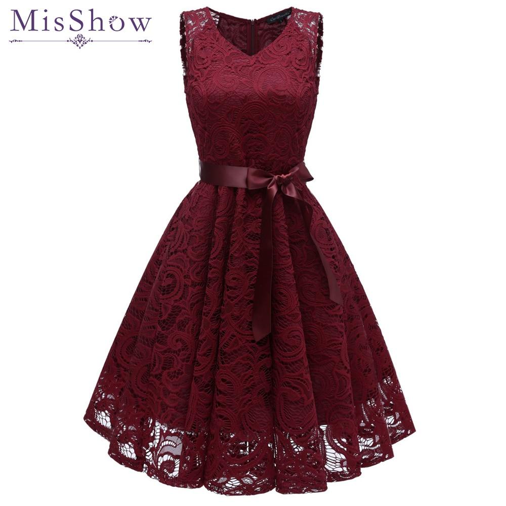 Short Lace Plus size Cocktail Dress 2019 Women Knee Length Formal Gown V  Neck Cocktail Party a3a279220