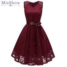 Коктейльные платья длиной до колена, сексуальное кружевное короткое вечернее платье с v-образным вырезом без рукавов
