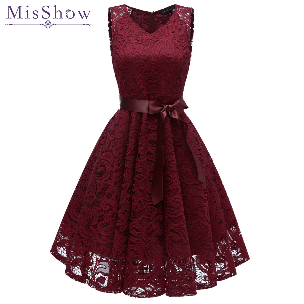 Cocktail Dresses Knee Length 2020 Sexy Lace Short Formal Party Gown V Neck Sleeveless Robe Coctail 2019