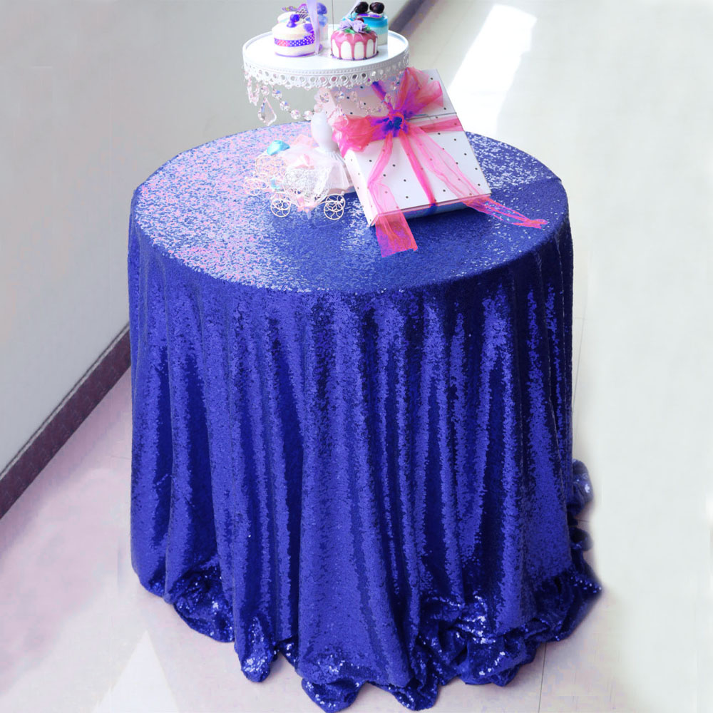 1pcs Free Shipping 108 Inch Round Sequin Tablecloths For Round Tables  Christmas Wedding Party Decoration 15