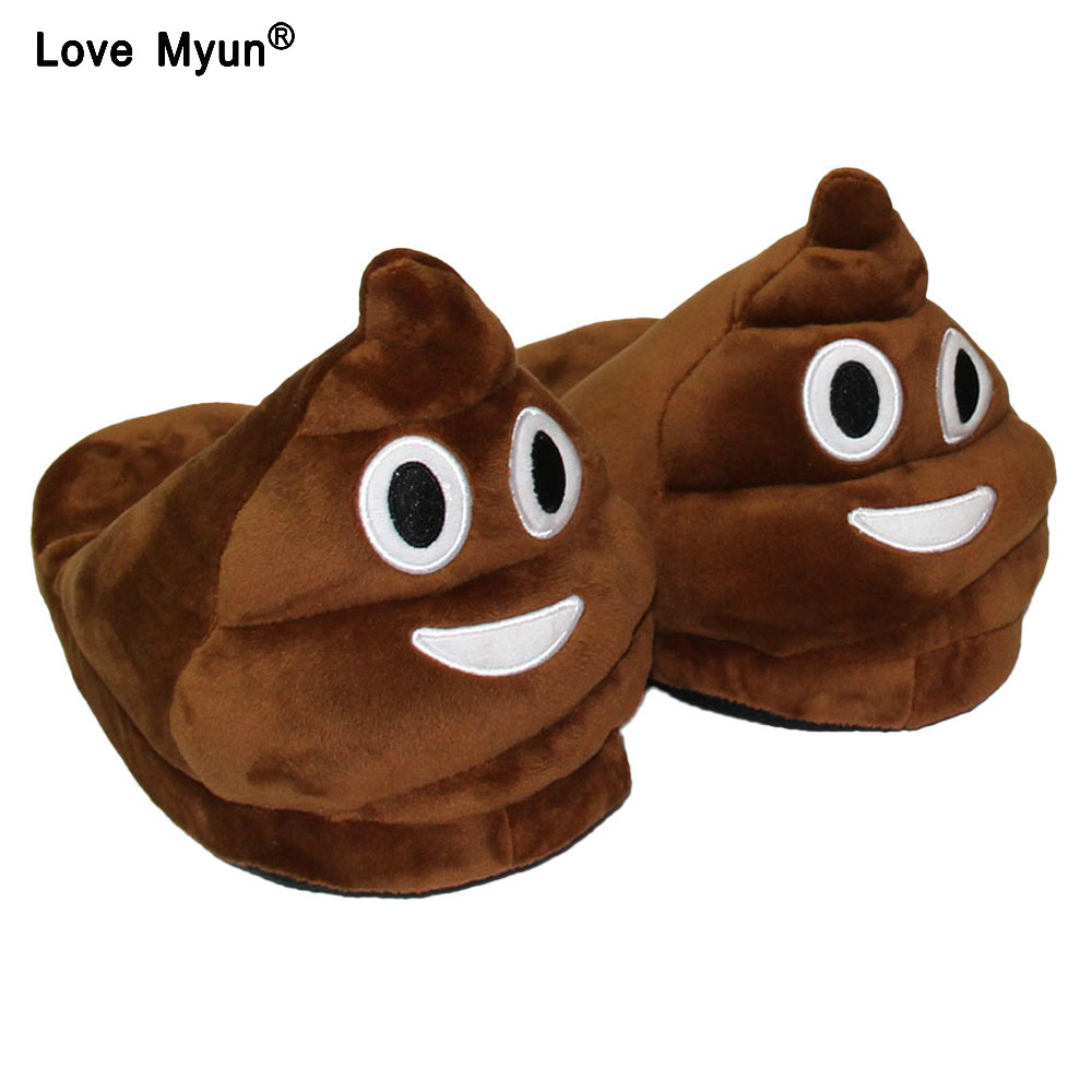 Cute Funny Winter Men Slippers Brown Fashion Plush Male Indoors Slippers Home Plain Warm Slippers yhj90 men plain slim jeans