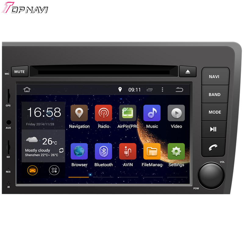 7 Free Shipping Quad Core Android 5 1 Car Radio Stereo GPS For VOLVO S60 V70