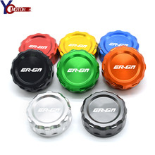 For Kawasaki ER6N ER-6N ER 6N CNC Aluminum Motorcycle Accessories Rear Brake Fluid Reservoir Cover Caps Cylinder Reservoir Cover candy fpe502 6n