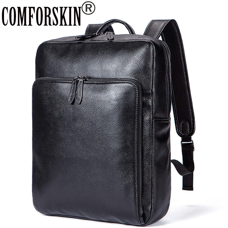 COMFORSKIN Brand Guaranteed Genuine Leather Women Backpacks New Arrivals Mochilas Mujer 2018 European and American Shoulder Bag цена