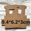 50PCS 9.4*6.2*3CM Brown with window Carton Kraft Paper Box Wedding Gift Packing Boxes Wedding Candy Box Party Favors Soap Boxes