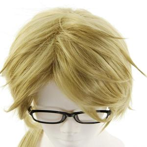 Image 4 - Bungo Stray Dogs Doppo Kunikida Wig Light Brown Short Straight Heat Resistant Synthetic Hair Cosplay Wigs +Wig Cap (no glassess)