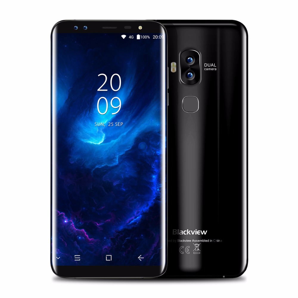 "4 Cameras Blackview S8 5.7"" 18:9 Full Screen Fingerprint 3180mAh  4GB RAM 64GB ROM MT6750T Octa Core Phone 4G Smartphone"