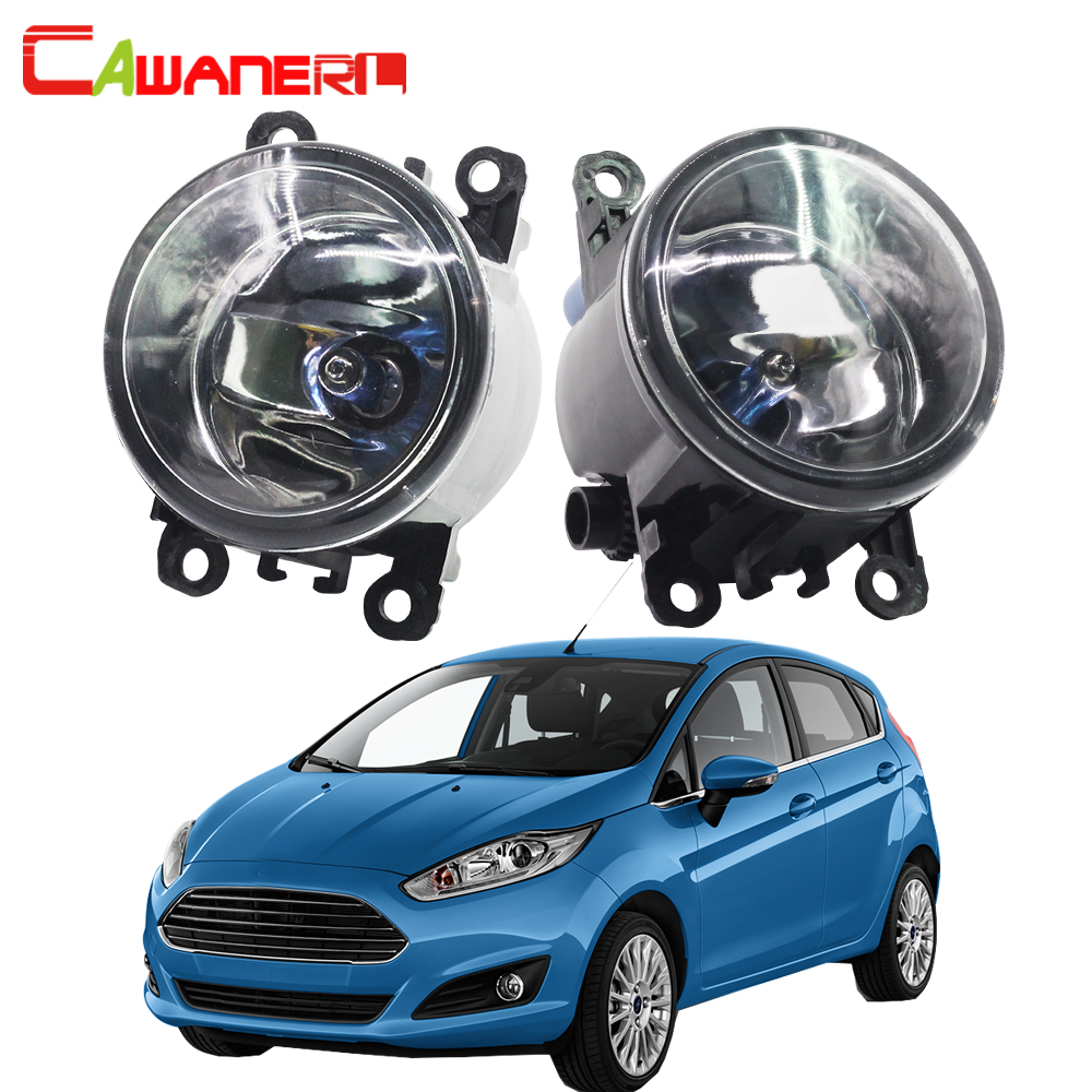 Cawanerl 2 Pieces 100W H11 Car Styling Halogen Bulb Fog Light Daytime Running Lamp DRL 12V For Ford Fiesta 2001-2015 cawanerl 2 x 100w h11 car halogen bulb fog light daytime running lamp drl 12v for citroen c1 pm  pn  hatchback 2005 up