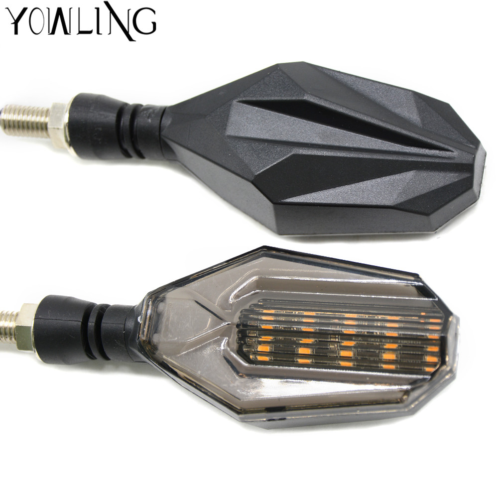 Black Amber Motorcycle 12V Flush bonading Mini LED Turn Signal Lights for Yamaha YZF R1 R6 R6 SFZ1S FAZER Z900 Z800 ER-6N RC390