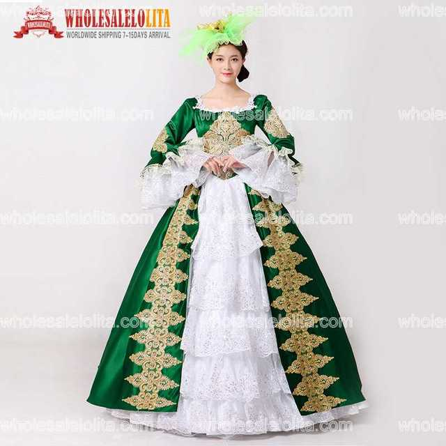2017 Brand New Green Embroidery Marie Antoinette Dress Civil War Southern  Belle Masquerade Ball Gown Reenactment Women Clothing ef2b2e1b1f6e