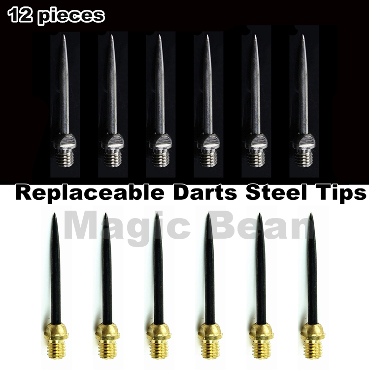 Professional Replaceable Dart Steel Tip; Dart Accessories; 6/12 Pieces; 27/28mm;selectable Silver Or Black 2BA Thread