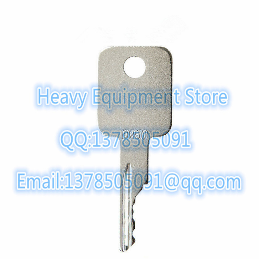 D250 5 Ignition Keys for Bobcat Terex Ditch-Witch Genie Grove Ingersoll-Rand ...