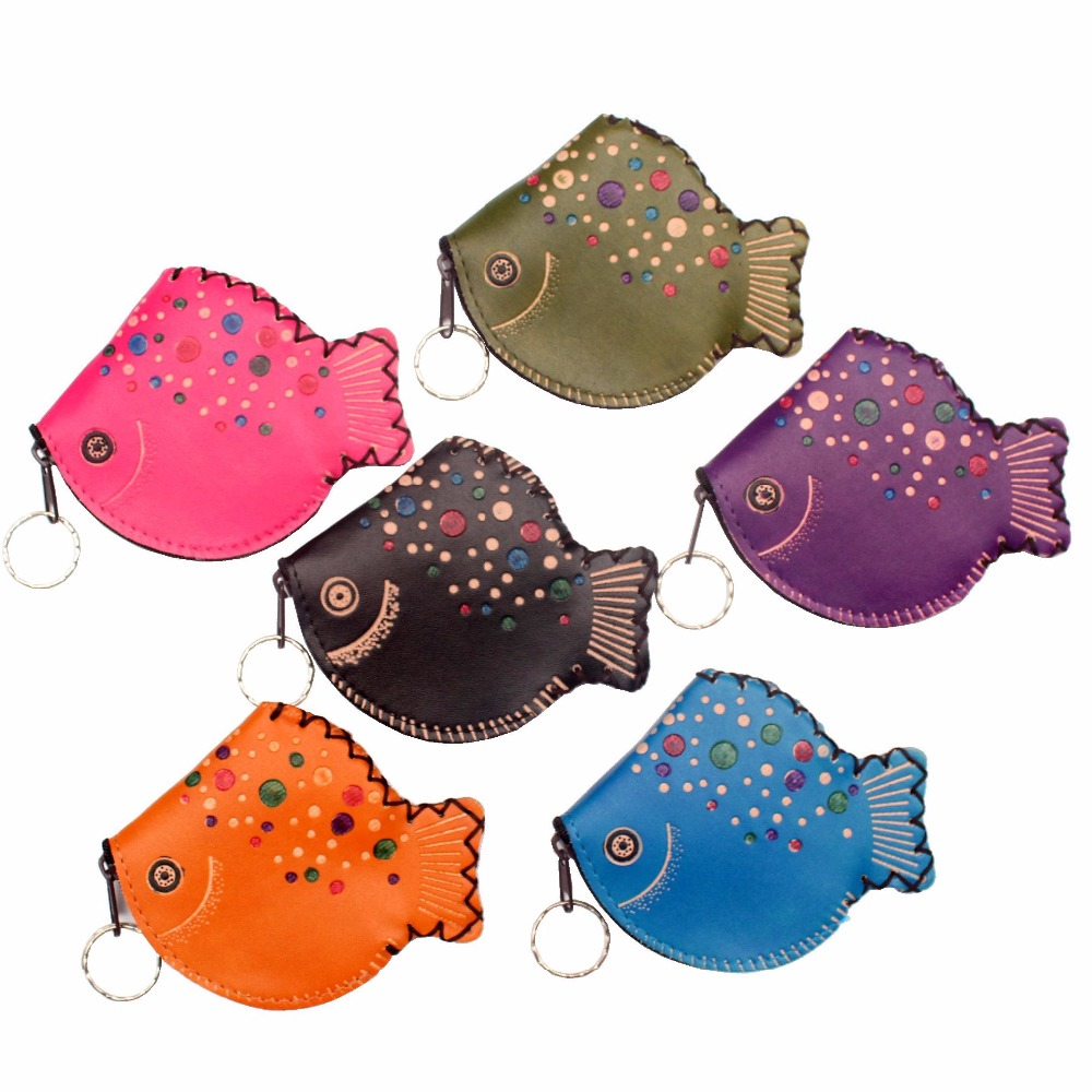 Cartoon fish model coin purse cute children's wallet lady's change purse womens mini wallets and Kid's purses Classic coin bags