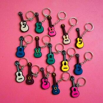 150 Pcs Creative Musical Instrument Keychain Guitar Keychain Violin Keyring Ukulele Keychain Music Concert Gifts