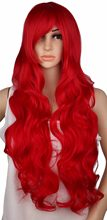 QQXCAIW Long Curly Cosplay Wig Costume Party Red Pink Sliver Gray Blonde Black 70 Cm High Temperature Synthetic Hair Wigs(China)