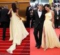 Vestidos de noiva Amal Clooneys Celebridade Vestidos de Cannes Tapete Vermelho Vestido de Um Ombro Slit Evening Prom Vestidos de Festa