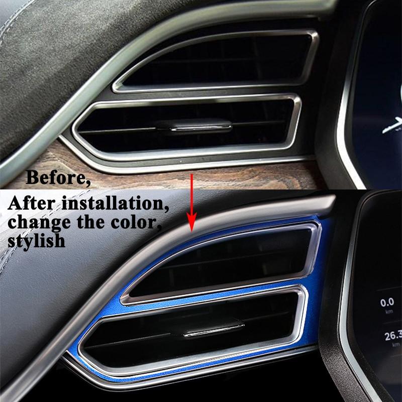 Decals Stickers Emblems For Tesla Model X S Accessories 3pcs Set Auto Air Vent