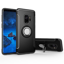 magnetic car holder Case For Samsung Galaxy S10 S8 S9 Plus S7 Edge S10 Lite Note 9 8 Soft TPU Silicone PC Cover Kickstand Cases(China)