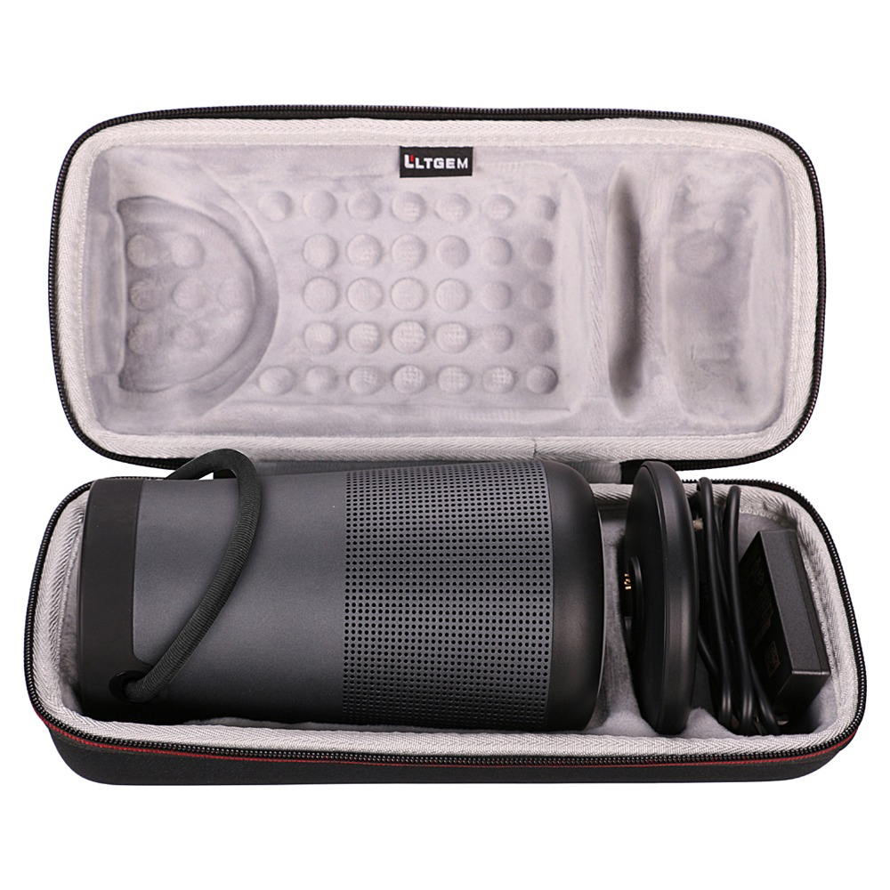 LTGEM Travel Protective Case For Bose SoundLink Revolve+ Portable & Long-Lasting Bluetooth 360 Speaker (Fits Charging Cradle, AC