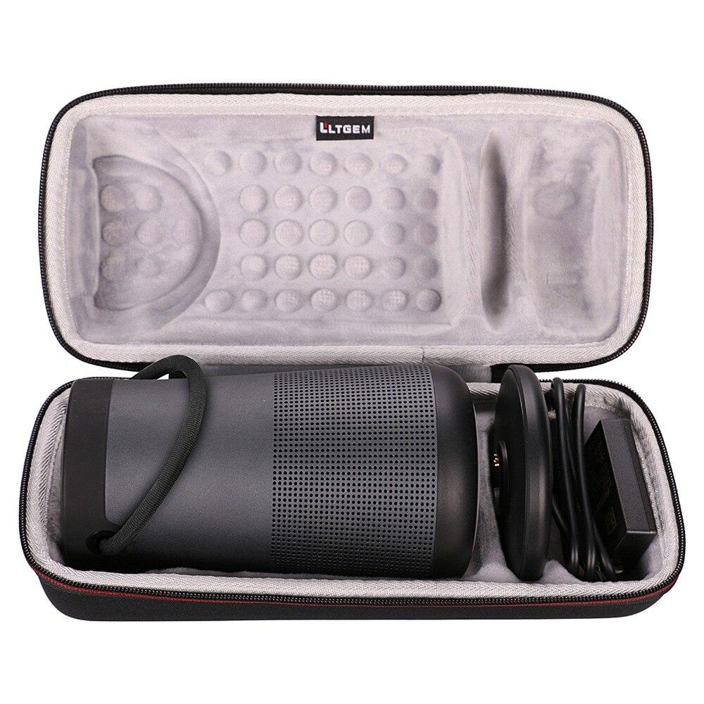 LTGEM Travel Protective Case For Bose SoundLink Revolve+ Portable & Long-Lasting Bluetooth 360 Speaker (Fits Charging Cradle, AC