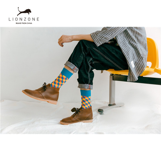 Mens Happy Socks 27 Colours Striped Plaid, Diamond, Cherry and more 4