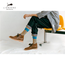 Mens Happy Socks 27Colors Striped Plaid Diamond Cherry Socks