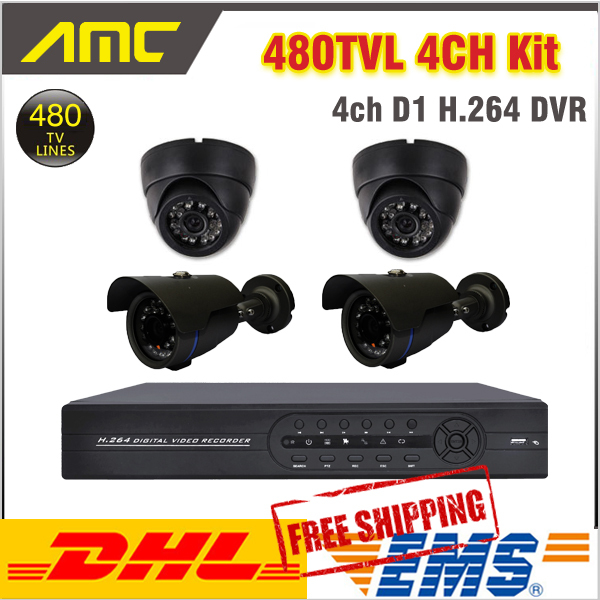 2pcs Indoor Dome 2pcs IR Bullet Outdoor Surveillance Camera Security CCTV System 4ch Channel CCTV Kit Security Camera System keeper 700tvl 4ch home video cctv surveillance system kit for analog camera 2pcs outdoor indoor dome 20m ir security camera