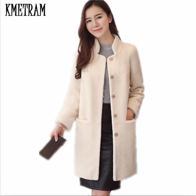 Aliexpress.com : Buy KMETRAM 2017 Fashion 100% Wool Coat Super ...