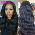 7A Grade Glueless Full Lace Human Hair Wigs Peruvian Virgin Hair Body Wave Lace Front Wigs For Black Women U Part Human Hair Wig