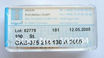 100PCS/LOT 100% ORIGINAL INGUN  GKS-075-214-130 GKS-075-214-130 A 2000 Spring Test Probe Pogo Pin made in Germany